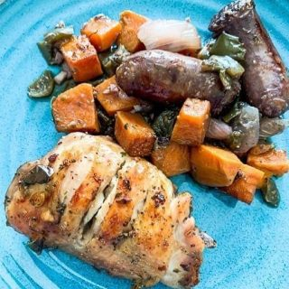 Chicken, Sausage and Sweet Potatoes https://thefinisheddish.com/2020/10/17/jambroth-chicken-sausage-and-potatoes/. #food  #dinner #comfortfood #chicken