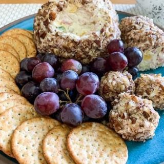 Pineapple Cheese Ball.  https://thefinisheddish.com/2021/04/03/pineapple-cheese-ball/. #appetizer. #cheeseball  #cheeseballs