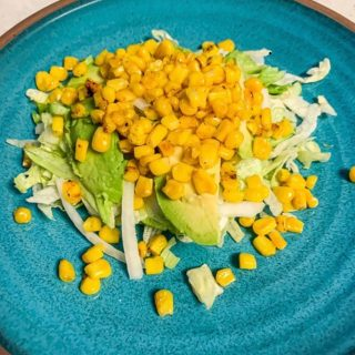 Corn Salad.  https://thefinisheddish.com/2020/09/07/corn-salad/