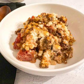 Gourmet Beef Noodle Casserole. https://thefinisheddish.com/2020/04/10/gourmet-beef-noodle-casserole/. #recipes #food #instagram #beef #dinner #comfortfood #spaetzles